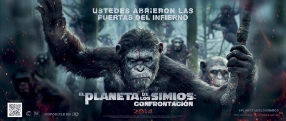 El_Planeta_De_Los_Simios_Confrontación_Nuevo_Banner_Latino_JPosters